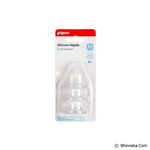 PIGEON Silicon Nipple Triple Pack M [PR020209] - Aksesoris Botol Susu